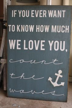 Painted Wood & Vinyl Count The Waves Sign by vinylvineyard on Etsy, $40.00