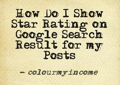 Google Search Results, Star Rating, Online Business, Colour, Color, Colors