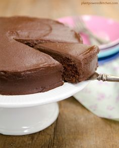 Rich and decadent chocolate cake. It's extra special because it's vegan, whole-grain & oil-free!