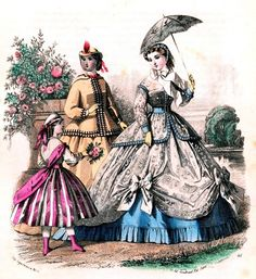 Unidentified Fashion Plate, ca. 1860s. | In the Swan's Shadow