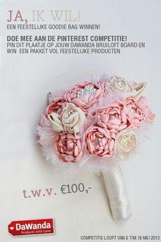Repin deze afbeelding op een board vol DaWanda wedding producten en geef het board de naam DaWanda Bruiloft! Maak kans op een goodiebag via http://nl.dawanda.com/
