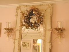 "Country French Christmas Decorations | and"" Chic"" because the colors are OH so pale and romantic!"