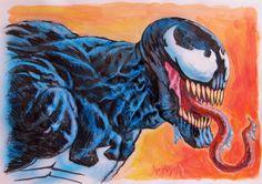 Venom Spiderman Comic Art