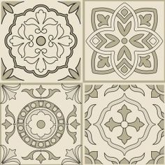 W1600225 Tile Art, Mosaic Tiles, Cnc Cutting Design, Italian Tiles, Blackwork, Diy Wedding, Art Nouveau, Pop Art, Stencils