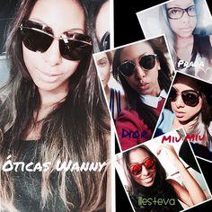 Arrasando nas escolhas dos óculos! #clientequerida #clientewanny #oscarfreire #oticaswanny #clienteonline #dior #fendi #miumiu