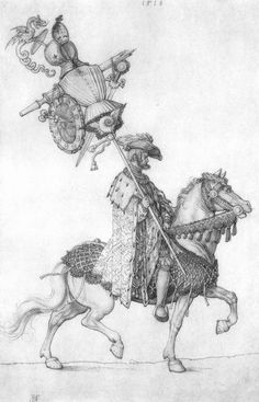 "Dürer, Albrecht, ""Die welsche Trophäe"", 1518, design drawing for Triumph of Maximilian I. Albrecht Dürer, Most Famous Artists, Esoteric Art, Landsknecht, Renaissance Era, Medieval Art, Old Art, Illustrators, Art Drawings"