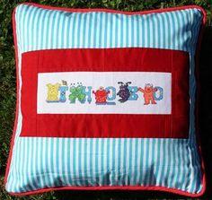 Cross Stitch - Back of Cushion made by Nicki - 2008