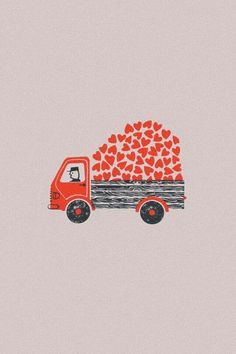 charming hearts on a truck