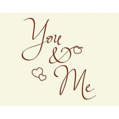 "Style and Apply You and Me Wall Decal Size: 25"" H x 24"" W, Color: White"