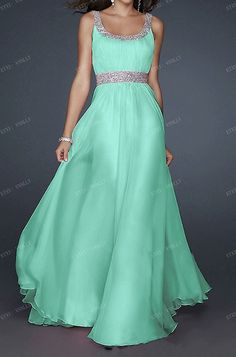 2014 Mint Long Formal Prom Dress / Long Party Dress /  by vnnlly, $55.00