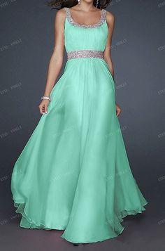 2014 Mint Long Formal Prom Dress / Long Party Dress / by vnnlly, $55.00