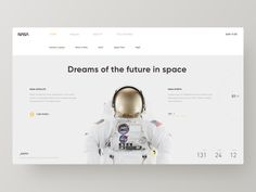NASA Web Design designed by Hippie Mao. Connect with them on Dribbble; the global community for designers and creative professionals. Web Design Mobile, Web Design Tips, Web Design Tutorials, App Design, Clean Design, Layout Design, Web Design Examples, Creative Web Design, News Website Design