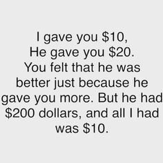 Don't be materialistic