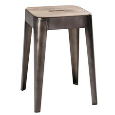 Mango wood and metal stool