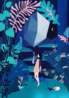 Vibrant And Dreamy Illustrations By Vero Escalante http://designwrld.com/vibrant-illustrations-vero-escalante/