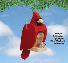 Cardinal Bird Feeder Pattern