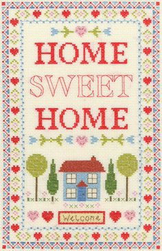Home Sampler Cross Stitch Kit £24.00 | Past Impressions | Bothy Threads