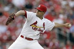 starting pitcher Tyler Lyons throws during the second inning of a baseball game against the Cincinnati Reds...Cards won the game 8-6.  8-26-13