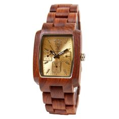 Limited Edition - Wood Watch, Gold Face - 11463