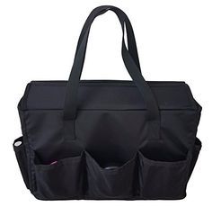 RW Collections XL Cosmetic Organizer Pouch Purse - Professional Makeup Bag - Portable Travel Accessories Kit - Bathroom or Dorm Room Storage - Hanging Toiletry Train Case (Black) Professional Makeup Bag, Dorm Room Storage, Train Case, Mini Crossbody Bag, Travel Accessories, Bag Sale, Cross Body Handbags, Marc Jacobs, Gym Bag