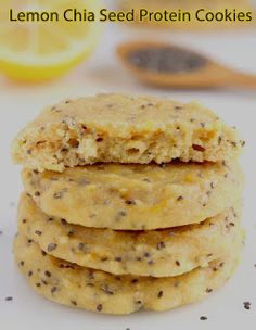your recipes: Lemon Chia Seed Protein Cookies !