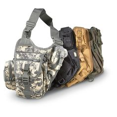 """Red Rock Military-style Sidekick Sling Bag.  Nice (and cheaper) alternative to Maxpedition bag.  Note the """"Military Style"""" and not """"Military Spec"""".  :-)"""