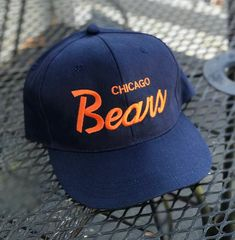 32b114ac774e6 Vintage Chicago Bears SnapBack Hat Cap 90s Christmas Vacation Clark Griswold