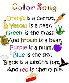 Colour song for kids