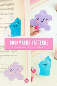 Felt Fox Bookmark. Fox Gift. Bookworm for Her. Unique Bookmark. Book Lover Gift. Bookmarkers for Kids. Handsewn Gifts. Felt Corner Bookmark Sewing Projects For Kids, Sewing For Kids, Diy For Kids, Crafts For Kids, Felt Crafts Diy, Felted Wool Crafts, Crafts To Make, Felt Baby, Felt Fox