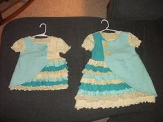 2 ruffled shirts made for 2 very special little girls, my granddaughter and her cousin - tutorial is found in attached link  http://shwinandshwin.blogspot.com/2012/01/country-ruffle-top.html?showComment=1327094980399#c2868043194889148012