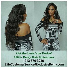 "@xclusiveremyelite Extensive styles, colors, & textures of 100% Virgin Remy & 100% Remy availability at www.XclusiveRemy.com **YOU WILL NOT FIND OUR EXCLUSIVE HAIR AT YOUR LOCAL BEAUTY SUPPLY STORE** E-mail or call for special order items not currently available on website. ��26"" ~ Email/Call for availablility ��28"" ~ Email/Call for availablility ��30"" ~ Email/Call for availablility ��Ombre Bundles ~ Email/Call for availablility �� Clip-Ins ~Email/Call for availablility  Full Lace…"