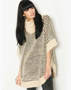 Only Roll Neck Cape on shopstyle.co.uk