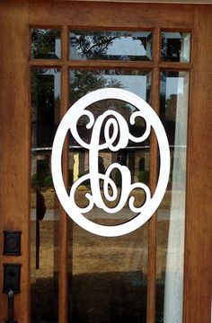 This classic door hanger single initial monogram is perfect for your door, wall or any where else! This isnt like your normal wood door hanger... This is made out of 1/8 PVC plastic and is super light weight and durable. It is so light that it can be hung with the lightest weight command strips, glue dots or small suction cup.  This design measures approximately 18 wide by 22 tall.  **Please note that this does NOT come with the burlap bow.**  If you would like a bow, please chose that i...