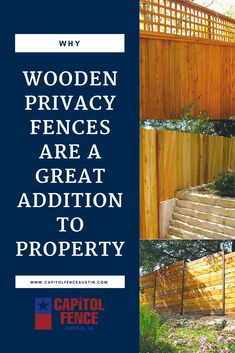 Why Wooden Privacy Fences Are a Great Addition to Property - Discover why we recommend Western Red Cedar wooden privacy fences as an addition to your Austin, Texas residential property