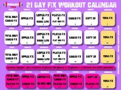 21 Day Fix Workout - Workout-Italia