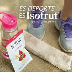 Una botella de agua para hidratarte, y un rico Isofrut serán tus mejores aliados en una mañana de Running. Elige la vida sana y natural, elige Isofrut.