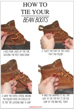 How to tie your Bean Boots | Do this with my Sperry's too!