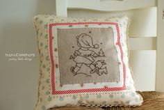 embroidery pillow from nana company