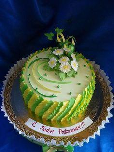 Cake Decorating Designs, Cake Decorating Techniques, Cake Designs, Cake Icing, Buttercream Cake, Cupcake Cakes, Frozen Doll Cake, Friendship Cake, Whipped Cream Cakes