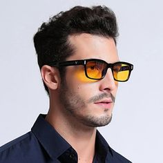 """Universe of goods - Buy """"Blue Ray Computer Glasses Men Screen Radiation Eyewear Brand Design Office Gaming Blue Light Goggle UV Blocking Eye Spectacles"""" for only USD. Blue Ray, Georgia, Light Games, Computer Glasses, Short Waves, Long Faces, Natural Sleep, Por Tv, Eye Strain"""
