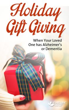 Holiday Gift Giving for loved ones with Alzheimer's or dementia #alzheimers #dementia #caregiver