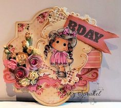 Copic card made by DT member Diny