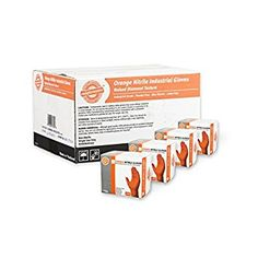 SupplyMaster – SMDTON8L-BX – Diamond Texture Nitrile Gloves – Disposable, Powder Free, Industrial, 8 mil, Large, Orange (Box of 50) Review Disposable Gloves, Cleaning Solutions, Industrial, Serious Business, Texture, Orange, Latex Free, Diamond, Powder