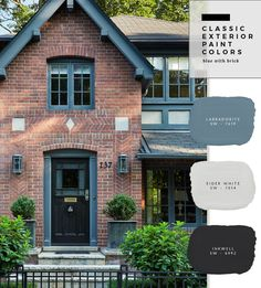 What's So Trendy About Brick Home Exterior Color Schemes That Everyone Went Crazy Over It? - What's So Trendy About Brick Home Exterior Color Schemes That Everyone Went Crazy Over It? - brick home exterior color schemes Best Exterior Paint, Design Exterior, Exterior Paint Colors For House, Paint Colors For Home, Modern Exterior, Tudor Exterior Paint, Outside House Paint Colors, House Exterior Color Schemes, Cafe Exterior