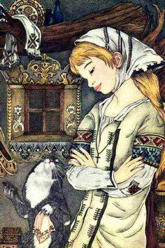"Adrienne Segur | ILLUSTRATION | ""Babay Yaga's Cat"""
