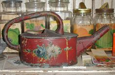 antique watering cans | This ViNtaGe Garden Sprinkler IS THE PRIZE of my entire collection ...