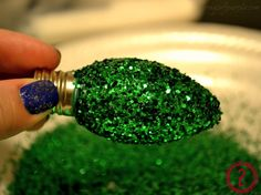 Glitter Light Bulb Ornaments
