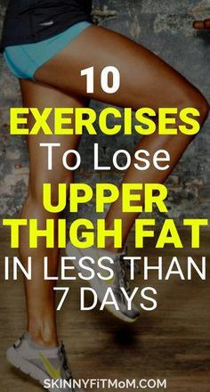 Exercises to lose thigh fat fast in one week. Get the lean, toned legs you've always wanted by doing these exercises. Instructions to teach you everything on how to lose thigh fat. Discover how to lose belly fat Lose Thigh Fat Fast, Lose Body Fat, Loose Thigh Fat, Loose Weight In Thighs, Start Losing Weight, How To Lose Weight Fast, Reduce Weight, Déséquilibre Hormonal, Band Workout