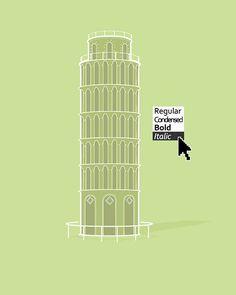 Tower of Pisa (italic)
