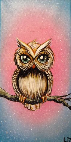 owl by Elizabeth Letourneau this may be the look I am want my owl to have in my tat. Owl Print, Love Art, Painting Inspiration, Painting & Drawing, Watercolor Painting, Amazing Art, Art Drawings, Art Projects, Art Photography